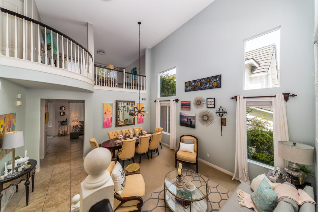 Modern Romantic Restyle View From Entryway