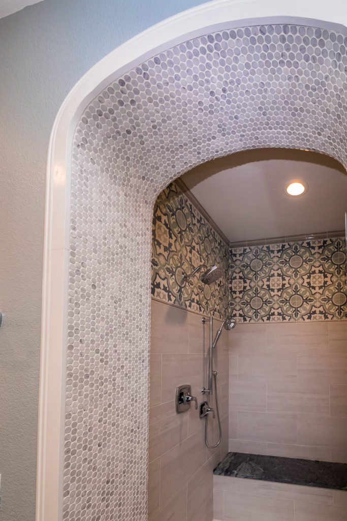 Moroccan-Inspired-tile-work-on-shower-arch