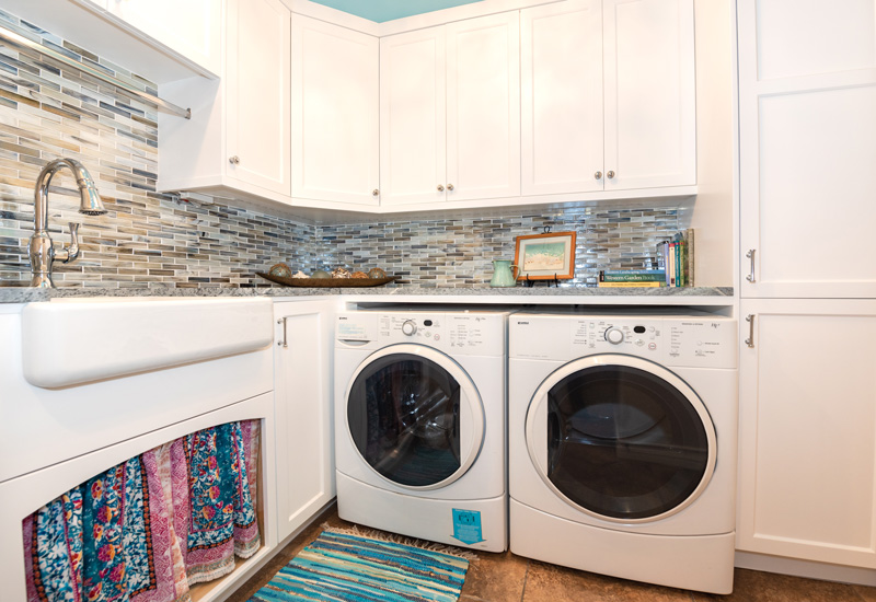 Stylish Laundry Room Storage